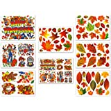 Thanksgiving and Fall Leaves Window Clings Decals Decorations Kit
