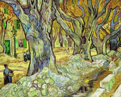 Oil Painting 'Vincent Van Gogh-The Large Plane Trees,1889' Printing On Perfect Effect Canvas , 20x25 Inch / 51x64 Cm ,the Best Nursery Gallery Art And Home Decor And Gifts Is This High Quality Art Decorative Canvas Prints