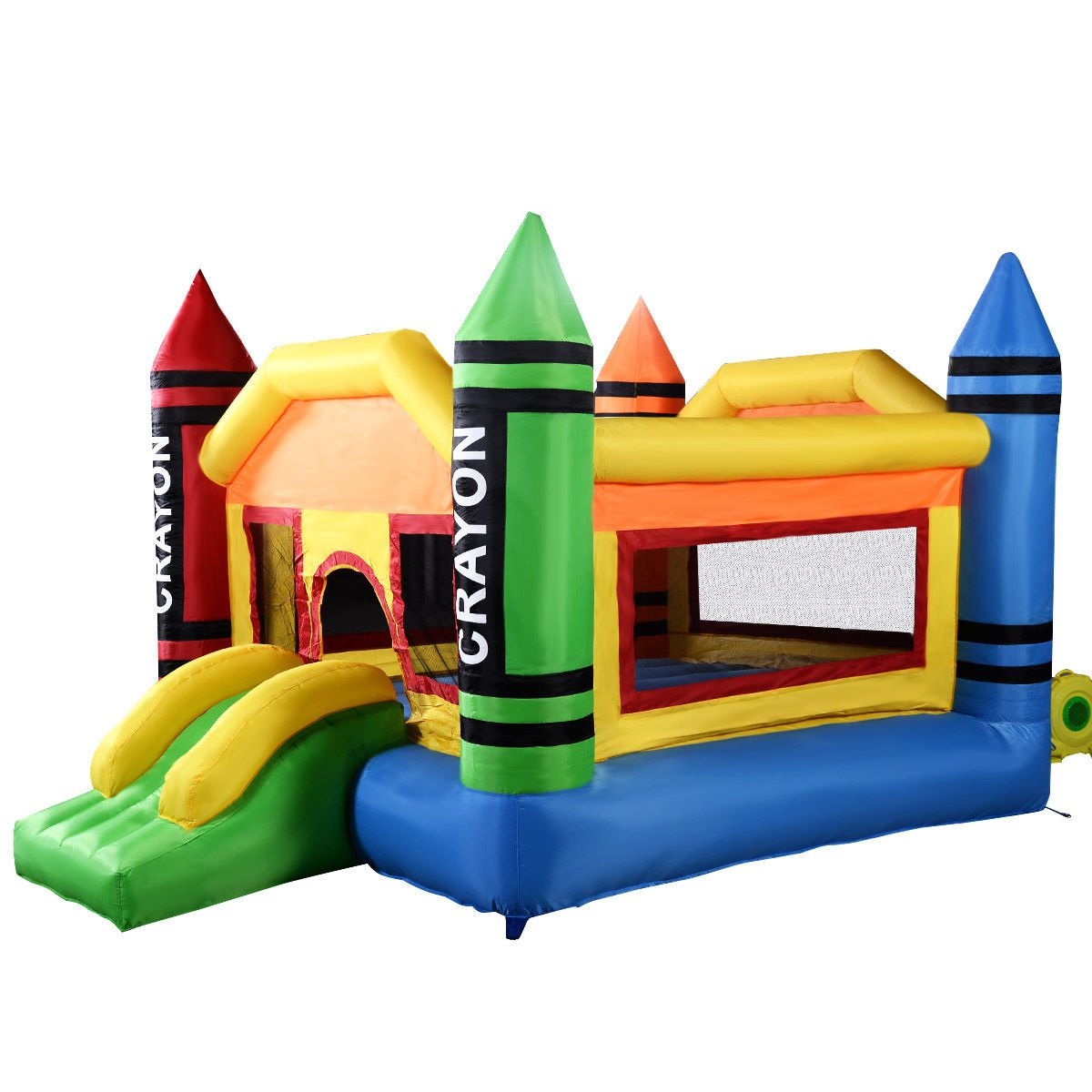 Costzon Inflatable Crayon Bounce House Castle Jumper Moonwalk Bouncer Without Blower