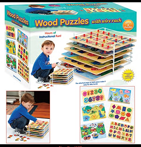 Set-of-6-Educational-Wood-Puzzles-with-Wire-Storage-Rack