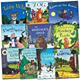 Julia Donaldson Julia Donaldson and Axel Scheffler Pack, 10 books, RRP £69.90 (A Squash and a Squeeze; Charlie Cook's Favourite Book; Monkey Puzzle; Room on the Broom; Stick Man; Tabby McTat; The Gruffalo; The Gruffalo's Child; The Smartest Giant in Tow