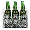 Clear Acrylic Beer & Soda Bottle & Can Cooler with Magnetic Lid / Party Tabletop Cold Pan Beverage Chiller Serving Tray