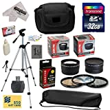 Ultimate Accessory Kit for Canon PowerShot SX50 HS SX50HS Digital Camera Includes 32GB High-Speed SDHC Card + Card Reader + Opteka NB-10L 1800mAh Ultra High Capacity Li-ion Battery Pack + 67MM 0.43x HD2 Wide Angle Panoramic Macro Fisheye Lens + 67MM 2.2x