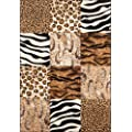 Lalee  347162710  Moderner Designer Patchwork Teppich / Muster : Leopard Zebra Tierfell - Optik / Gr�sse: 120 x 170 cm