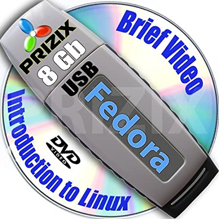 Fedora 17 on 8gb USB Stick Flash Drive and Complete 3-discs DVD Installation and Reference Set, 32 and 64-bit