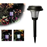FTXJ Anti-Mosquito Solar Powered LED Light Insect Fly Lure Killer Repellent Pest Bug Zapper For Garden