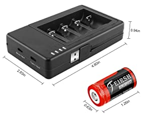 RCR123A Rechargeable Batteries and Charger, RCR123A Lithium ion Battery Charger with 8 Pack 3.7V 800mAH Batteries for Arlo Security Cameras Alarm System
