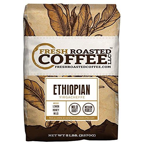 Ethiopian Yirgacheffe Coffee, Whole Bean, Fresh Roasted Coffee LLC (5 lb.) (Fresh Roasted Coffee Llc 5lb compare prices)