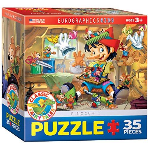 Eurographics 6 x 6-inch Box Pinocchio Puzzle (35 Pieces) (Pinocchio Nose Growing)