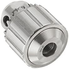 "Llambrich CY Plain Bearing Medium Duty Threaded Mount CK4 Keyed Drill Chuck, 3/8""-24 Mount, 1-1/4"" Chuck Diameter, 1/64""-1/4"" Capacity"