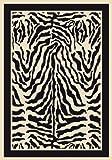 """2'1"""" x 7'8"""" Milliken Innovations Zulu P4551 - 2000 - Zebra Rectangular Runner"""