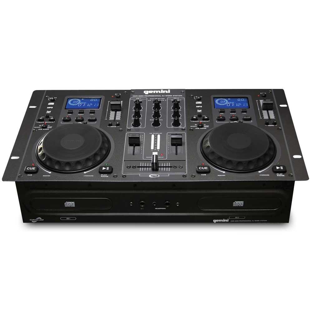 Gemini CDM-3250 Professional CD/MP3 Player Mixer Mixing Console