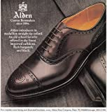 1990 Alden Shoes: Straight Tip Oxford, Alden Print Ad