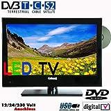 """#4: Gelhard GTV-1650 SAT LED TV Fernseher 16"""" 40cm, DVB-S2 /-C/-T 230V + 12 /24 Volt, integrierter DVD Player – Energieeffizienzklasse B"""