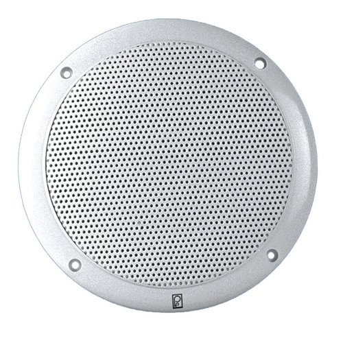 "Polyplanar 4"" 2-Way Coax Integral Grill Marine Speaker - (Pair) White"