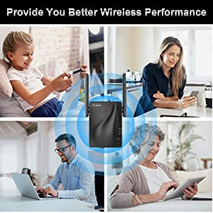 WiFi Range Extender - 1200Mbps WiFi Repeater Wireless Signal Booster, 2.4 & 5GHz Dual Band WiFi Extender with Gigabit Ethernet Port, Simple Setup. (Color: 1200Mbps)