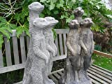 Ornate stone Merkats ornament figurine