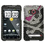 Rhinestones Protector Case for HTC EVO 4G, Cross Bones Full Diamond