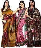 Miraan Silk Saree(Co001_Multi-Coloured)