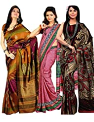 Meher Designer Combo Of 3 Art Silk Sarees (CO001)