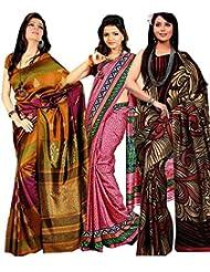 Meher Designer Combo Of 3 Art Silk Sarees (CO001)
