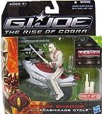 G.I. Joe The Rise of Cobra Storm Shadow with Arashikage Cycle Vehicle and Figure Set