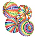 Lampion Bunter Ballon, rund, Ø 22 cm, 12 Stk.