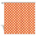 CafePress Orange and Cream Polka Dots Pattern Shower Curtain
