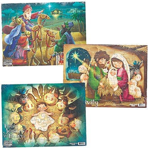 (Set/3) Children's Christmas Nativity Scenes 40 Pieces Each Jigsaw Puzzles