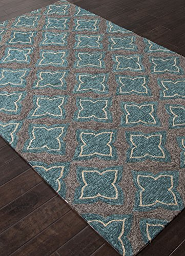 Addison and Banks Indoor-Outdoor Moroccan Pattern Polyester Area Rug, 2 by 3-Feet, Dark Gray