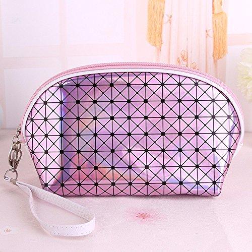 Griglia Laser Cosmetic sacchetto impermeabile multifunzionale Sacchetti di stoccaggio sacchi di lavaggio,4