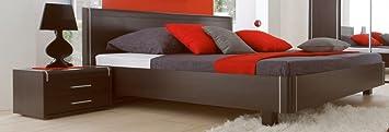 Dreams4Home Doppelbett 'Salem' - Ehebett, Bett 180 x 200 cm, Bett 160 x 200 cm, Jugendbett, Schlafzimmer, Gästezimmer, Jugendzimmer, ohne Matratzen,ohne Lattenrost, in wenge, Größe:160 x 200 cm;Nachtkonsole:ohne Nachtkonsolen