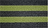 Clean Machine Patio Stripe Doormat, 18 by 30-Inch, Black Olive