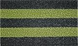 Clean Machine Patio Stripe Doormat, 18 by 30-Inch, Black Olive