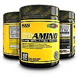 MAN Sports ISO-AMINO BCAA Amino Acid Powder, Sour Batch, 90 Servings, 630 Grams