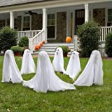 Forum Novelties Ghostly Group Ghost Decorations, 3-Piece