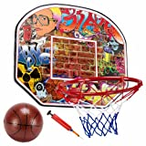 "Urban Graffiti 12"" Mini Basketball Hoop with Ball and Pump from the Streetball Legend Series by Crown Sporting Goods"