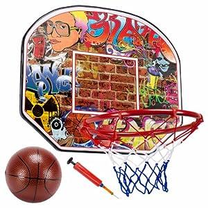 "Streetball Legends Urban Graffiti 12"" Mini Basketball Hoop with Ball"