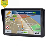 GPS for Car, 7 inches Portable Lifetime Map Update Spoken Turn-to-Turn Navigation System for Cars, SAT NAV (Color: Model T)
