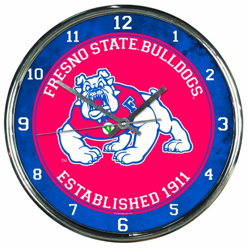 NCAA Fresno State Bulldogs Chrome Clock