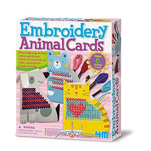 4M 68451 - Basteln - Embroidery Animal Cards