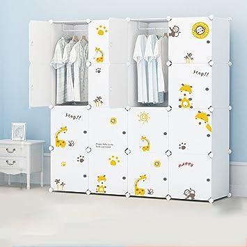 Children's plastic assembly simple wardrobe modern minimalist folding baby cartoon resin container storage closet