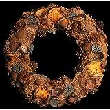 Exotic Creations Lavenderwood - Dried flower wreath(Natural,L=40 cm X W=40 cm X D= 40 cm)
