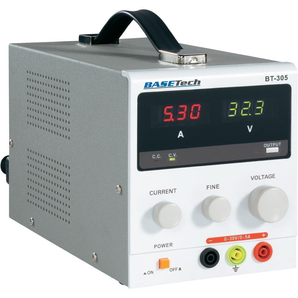 Labornetzgerät, einstellbar Basetech BT305 0  30 V/DC 0  5 A 150 W, BT305  BaumarktKundenbewertung und weitere Informationen