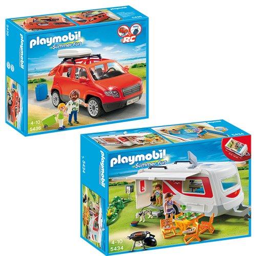 PLAYMOBIL® Camping 2er Set - 5434 Familien-Wohnmobil + 5436 Familienauto NEU
