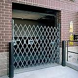 WIREWAY/HUSKY Folding Steel Pivoting Single Security Gates for Wide Doorways - Gray