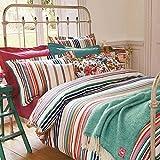 Joules Deckchair Stripe Oxford Pillowcase (Multi-Coloured Striped)