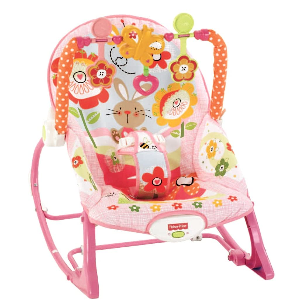 Fisher Price Infant To Toddler Pink Bunny Deluxe Rocker