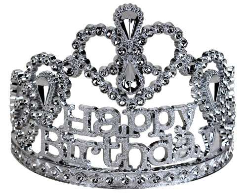 BigMouth Inc Happy Birthday Silver Tiara