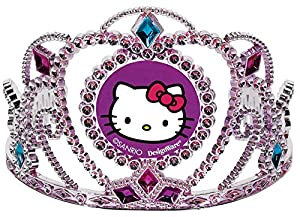 """Adorable Hello Kitty Rainbow® Party Electroplated Birthday Tiara Party Wearable Accessory Favour (1 Piece), Pink/Purple, 3 1/2"""" x 4 1/2""""."""